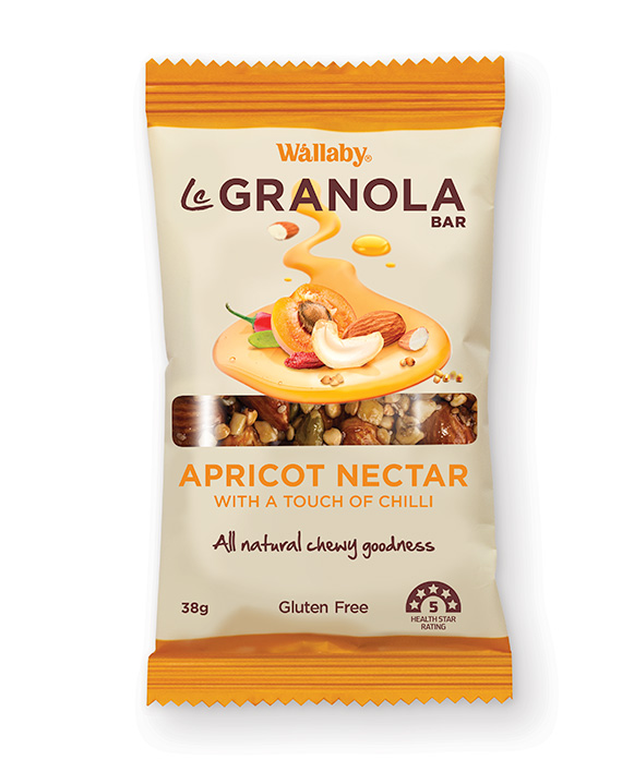 Wallaby Le Granola Bar Apricot Nectar