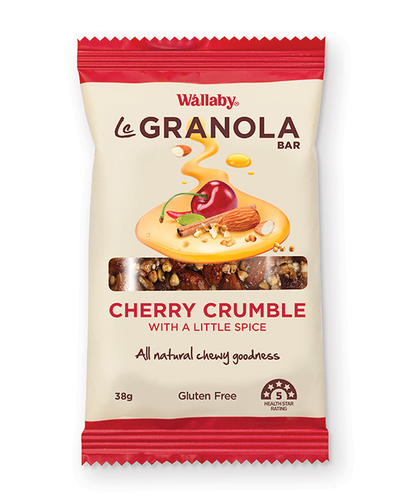 Wallaby Le Granola Bar Cherry Crumble