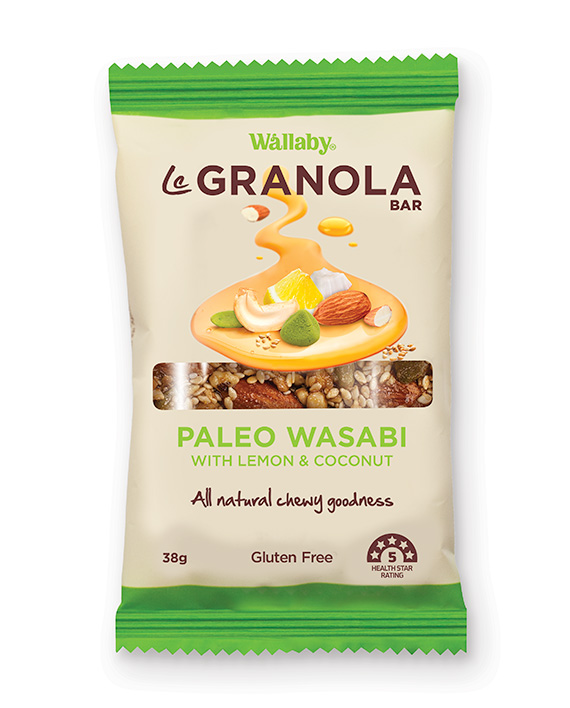 Wallaby Le Granola Bar Paleo Wasabi